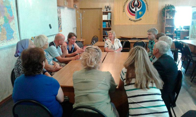 Встреча в обществе немцев Караганды
