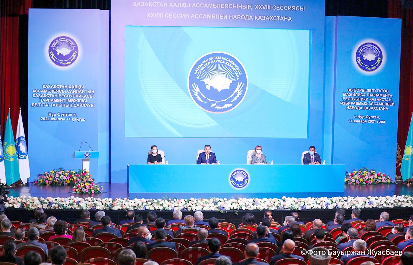 Die Volksversammlung Kasachstans wählt ihre Abgeordneten