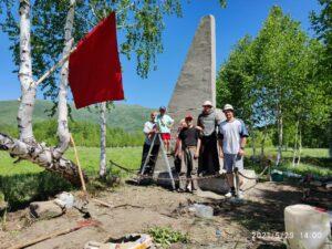 Активисты немецкого этнокультурного объединения восстановили исторический памятник