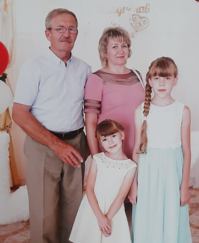 В.Б.Боргардт с семьёй