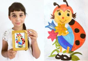 рисунки школьницы о божьей коровки