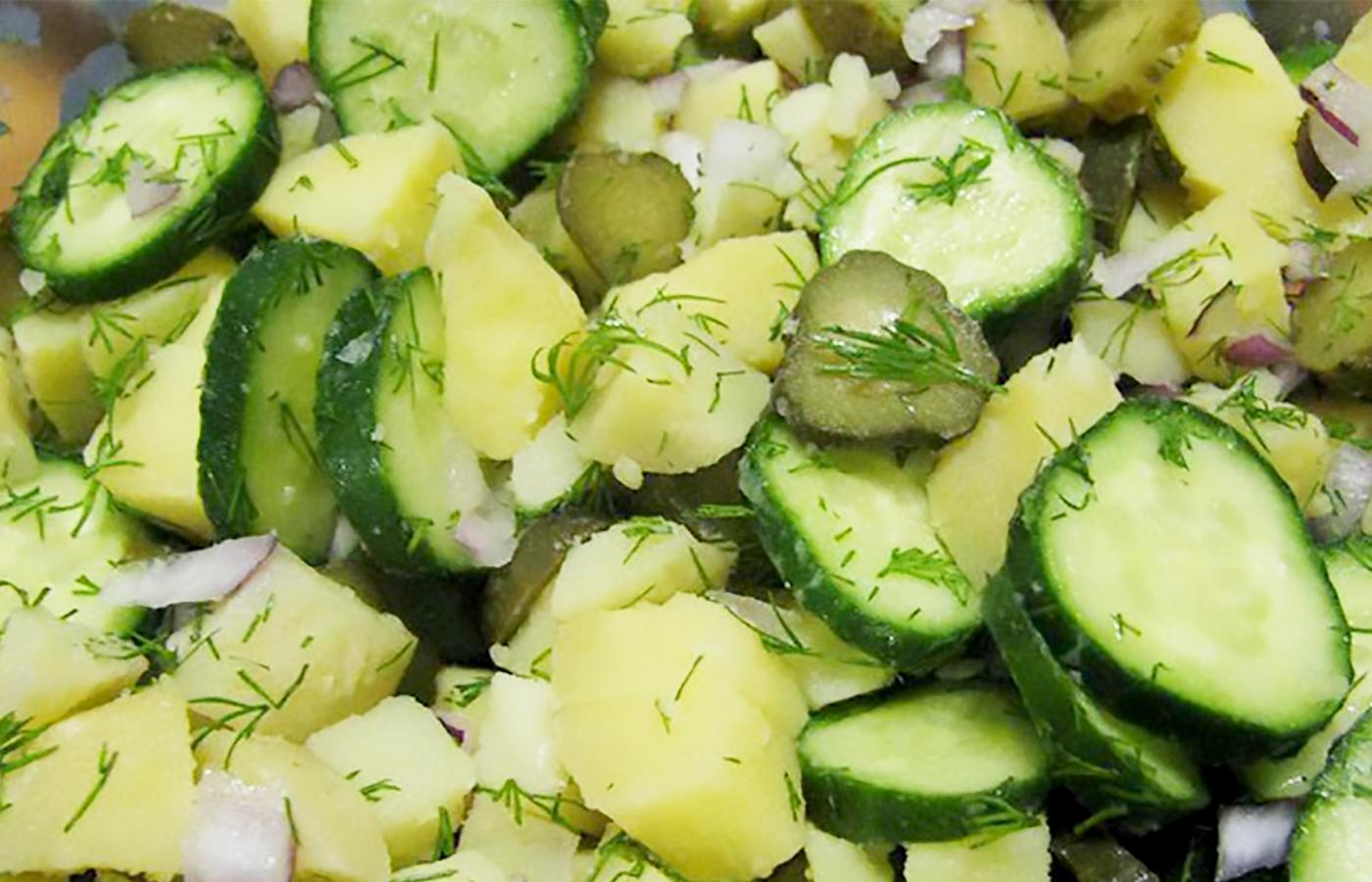 Крестьянский картофельный салат