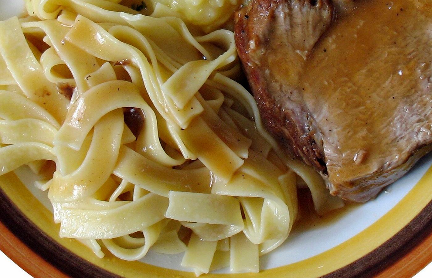 Лапша домашняя с мясом